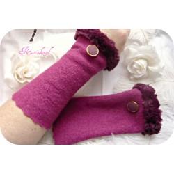 Walkstulpen FAMOUS ROSE Armstulpen Violett Fuchsia