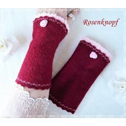 Walkstulpen Dunkelrot Rosa Rose Damen E K