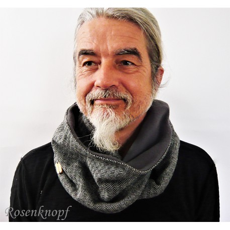 Loopschal Schwarz Grau Herren E K