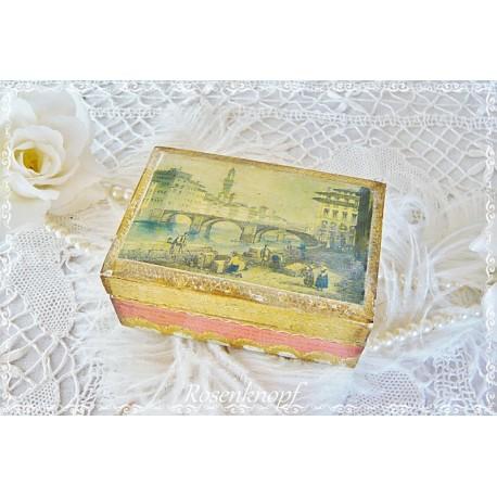 Holztruhe Schachtel Gemälde Italien