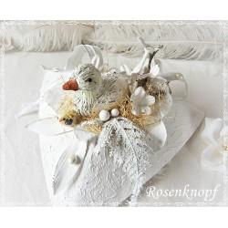 Ostergesteck Keramikei Weiß Rosa  E K