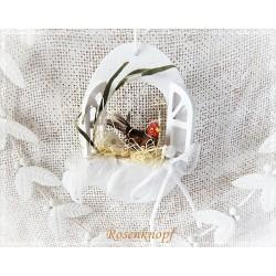 Osterfenster Henne Weiß