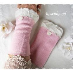 Walkstulpen Braut Rosa Ivory Damen E K