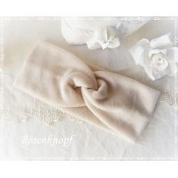Haarband Stirnband Altrosa Fleece