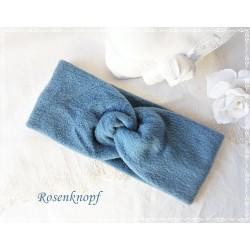 Haarband Stirnband Jeansblau Fleece