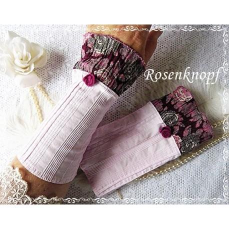Stulpen ROSALYN Rosa Bordeaux Rosen Walk Stoffstulpen