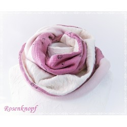 Damenloop Schal Rosa Unikat E K