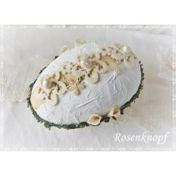 Osterei zum öffnen Weiß Ivory K