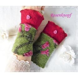 Walkstulpen Grün Violett Rot Damen K