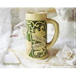Bierkrug Keramik Vintage Beige EK