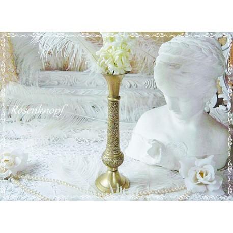 Messing Vase MAROKKO Vintage Shabby Blumenvase