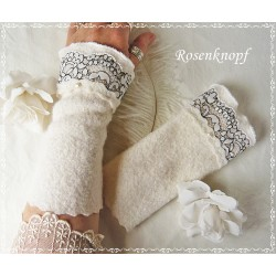 Walkstulpen Braut Ivory Rosa Damen E K
