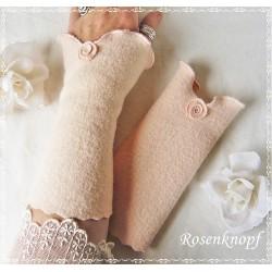 Walkstulpen Braut Rosa Rose K