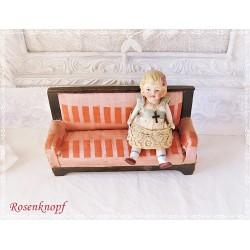 Sofa Puppenhaus Antik ~1910 EK
