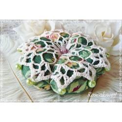Nadelkissen Blume Ivory Grün