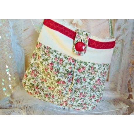 b784daa3f2b25 Stoff Tasche Umhängetasche Unikat Rosa Blumen - Charlott Amsberg