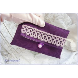 Clutch Abendtasche Lila Rosa