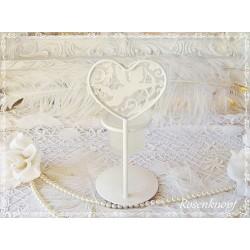 Kerzenständer ENGEL Metall Ivory Shabby Vintage