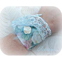 Armband Brautschmuck Hellblau Weiß