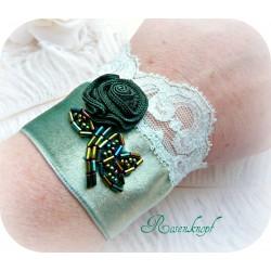 Armband Brautschmuck Jade Dunkelgrün