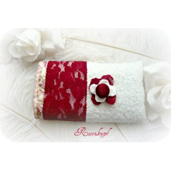 Handy-Etui ROMYCA Kamera-MP3 Walk Weiß Rosa