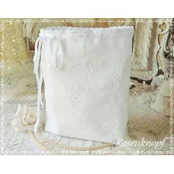 Wäschebeutel Brotbeutel WHITE-ROMANCE Weiß Shabby