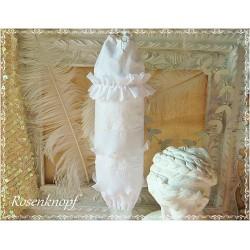 Stoff TÜTENSPENDER Weiß Vintage Shabby Rüschen
