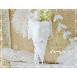 Stoff Spitztüte KARO Rosa Weiß Aufbewahrung Textil