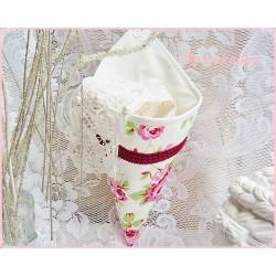 Utensilo  zum Hängen Weiß Rosa