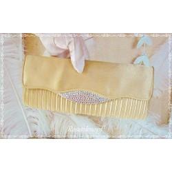 Clutch  Braut Goldfarben Tasche Vintage E