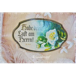 Psalmbild Pappe Gründerzeit Vintage