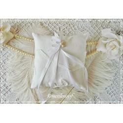 Ringkissen WEIßE LIEBE Spitze Weiß Braut Hochzeit