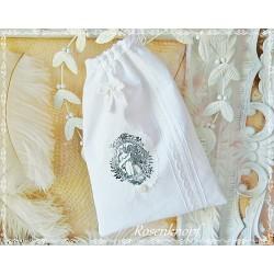 Wäschebeutel Brotbeutel Weiß Shabby Engel