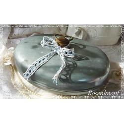 BETTFLASCHE Wärmflasche Zink Metall Messing Vintage Shabby Brocante Rarität Sammlerstück 1880-1900 Deko Bettwärmer E