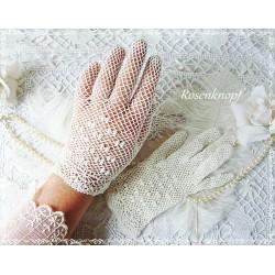 Vintage Spitzenhandschuhe MARRY ME Brauthandschuhe