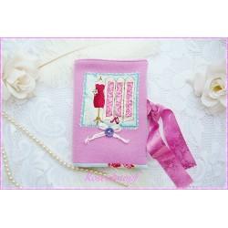 Taschen-Organizer ROSA-LIEBCHEN Wolle Spitze Pink
