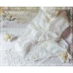 Brautstola Weiß Spitze Schal Tuch Hochzeit