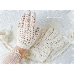 Handschuhe VINTAGE LADY Ivory Brauthandschuhe
