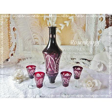 GLASSCHALE Vintage Blütenform Glas Shabby
