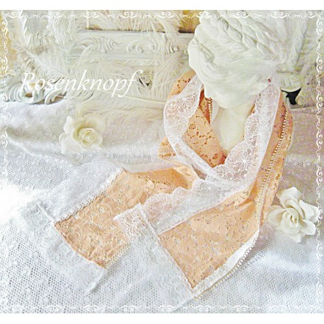 Schal/Tuch POEM in PEACH Shabby Apricot Tüll