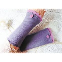 Walkstulpen Armstulpen Lavendel Violett