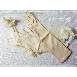 Fingerhandschuhe Braut Zartrosa Vintage