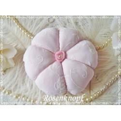 Nadelkissen Leinenblume Weiß Rosa