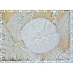 Vintage Handtasche DARLING Brauttasche Ivory Perle