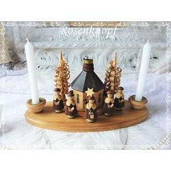 Erzgebirge Schnitzerei Holz Kerzen Weihnachten Shabby Vintage