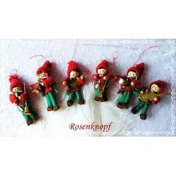 TANNENBAUM Weihnachten Rot Weiß Shabby Spitze Rustikal