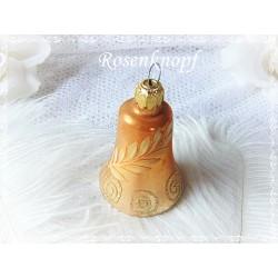 Vintage Christbaumkugel Glocke Gold Weihnachten Shabby