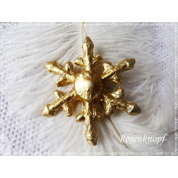 Anhänger Schneeflocke Gold