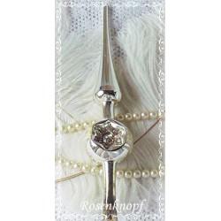 Vintage CHRISTBAUMSPITZE Silber Weihnachten Shabby