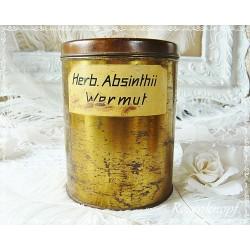 APOTHEKERDOSE Vintage Shabby Weißblech ca. 1880